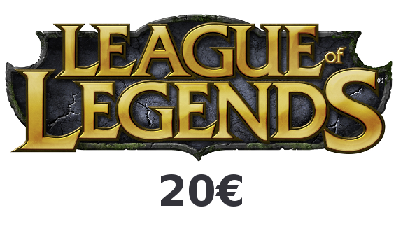 Carte prépayée RP League of Legends 20€
